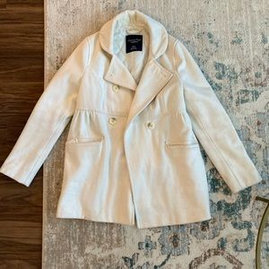 White American Eagle Pea Coat